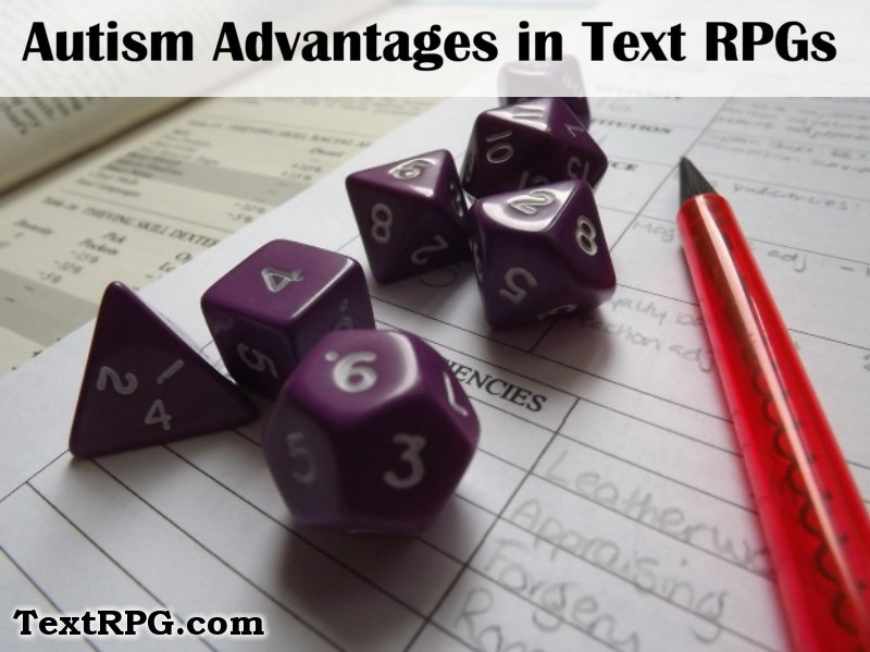 Autism Text Based Role-Playing Games Benefits