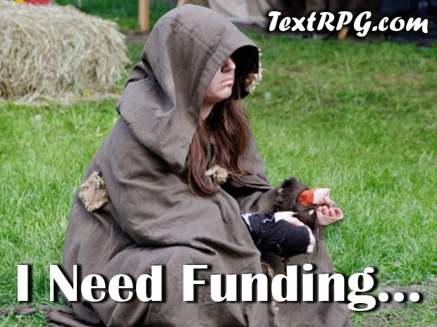 Funding Your Awesome Text Role-Playing Game